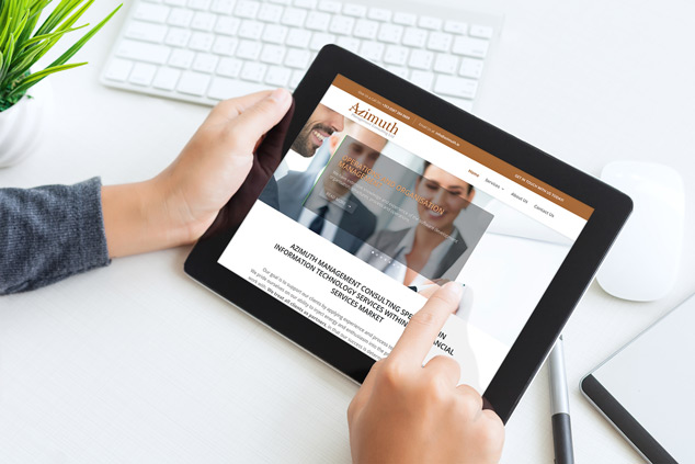 Webenito Case Study - Azimuth Management Consulting Ltd Tablet Mockup