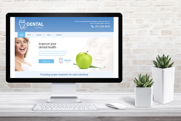 Webenito Case Study - Dublin Dental Clinic Desktop Mockup