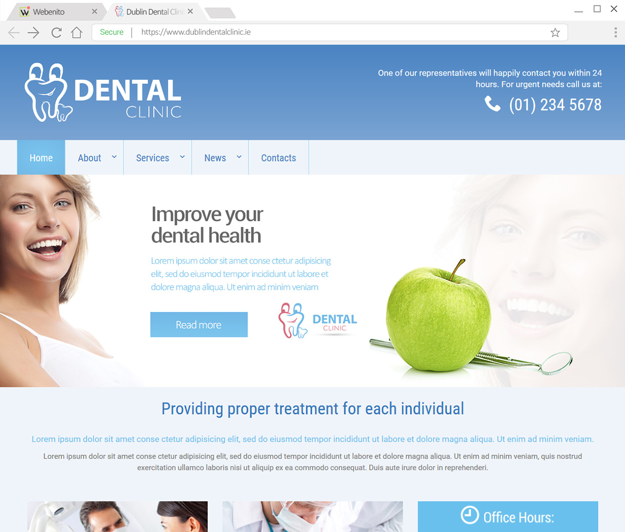 Webenito Case Study - Dublin Dental Clinic