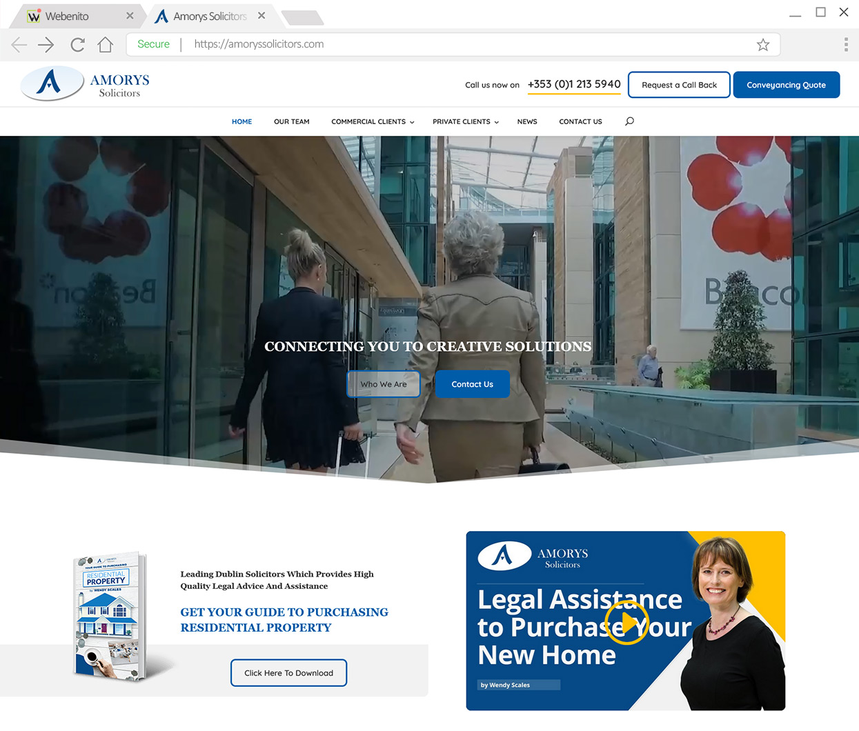Webenito Case Study - Amorys Solicitors